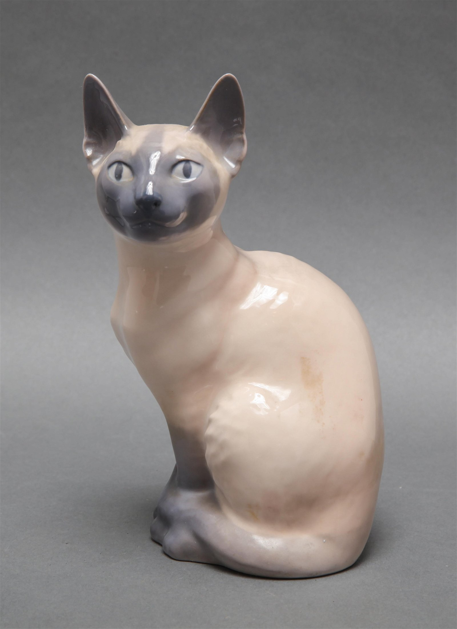 Royal Copenhagen Porcelain Siamese Cat #3281