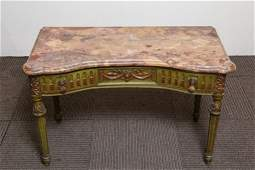 Louis XV-Manner Marble Top Coffee Table