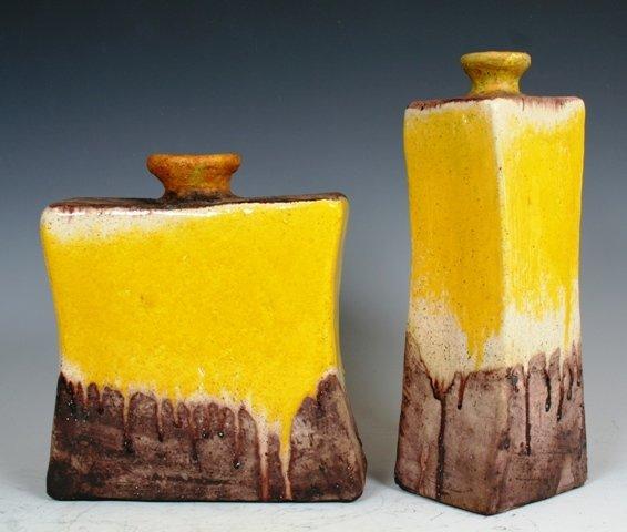 3003: Pair of Rare Fantoni Studio Ceramics 1950