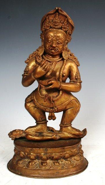 3014: Bronze Yama Statue 19th c Tibet