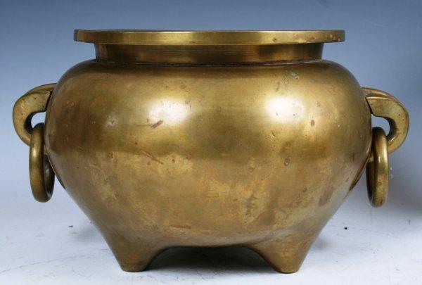 3016: Brass Chinese Insense Pot 1940