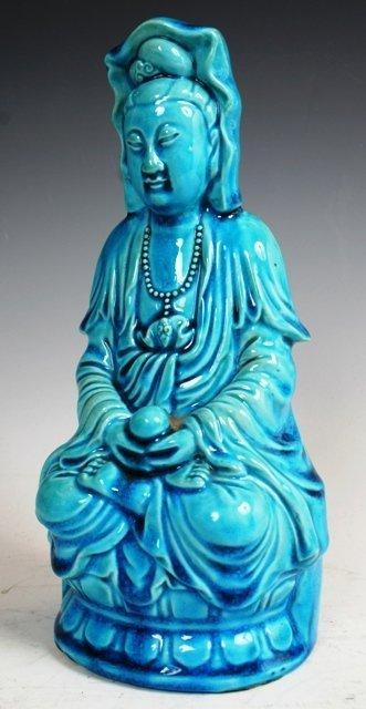 3018: Kwan Yin Porcelain Statue 19th c China