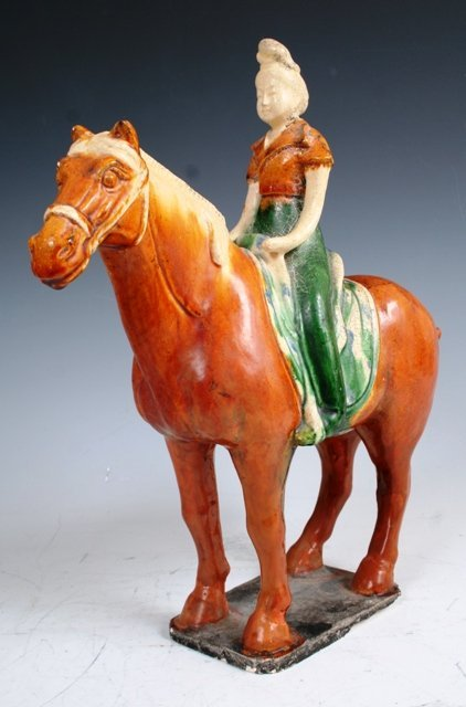 3020: Chinese 19th c Qing Dyn Hua Mulan Sculpture