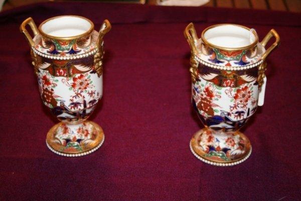 3072: Pair of Spode Poricealin Urns c.1890-1910