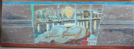 3402 Jeffrey Camp Oil on Board signed 1983 English