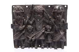 Benin Bronze Warrior Plaque Reproduction