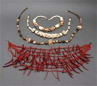 Collection of Beaded Necklaces incl Horn & Coral 4