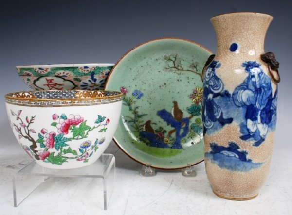 5: 4 19th C Chinese Porcelain Pieces