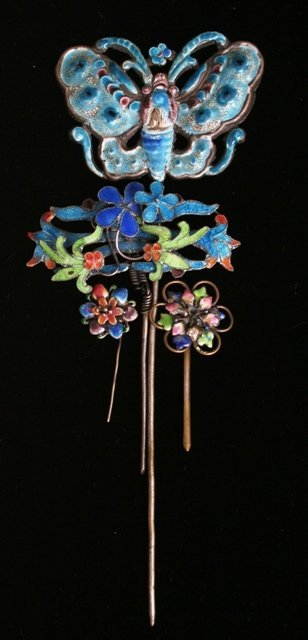23: Four 19th c Korean Choson Court Hair Pins