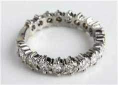 Platinum Diamond Eternity Band Ring