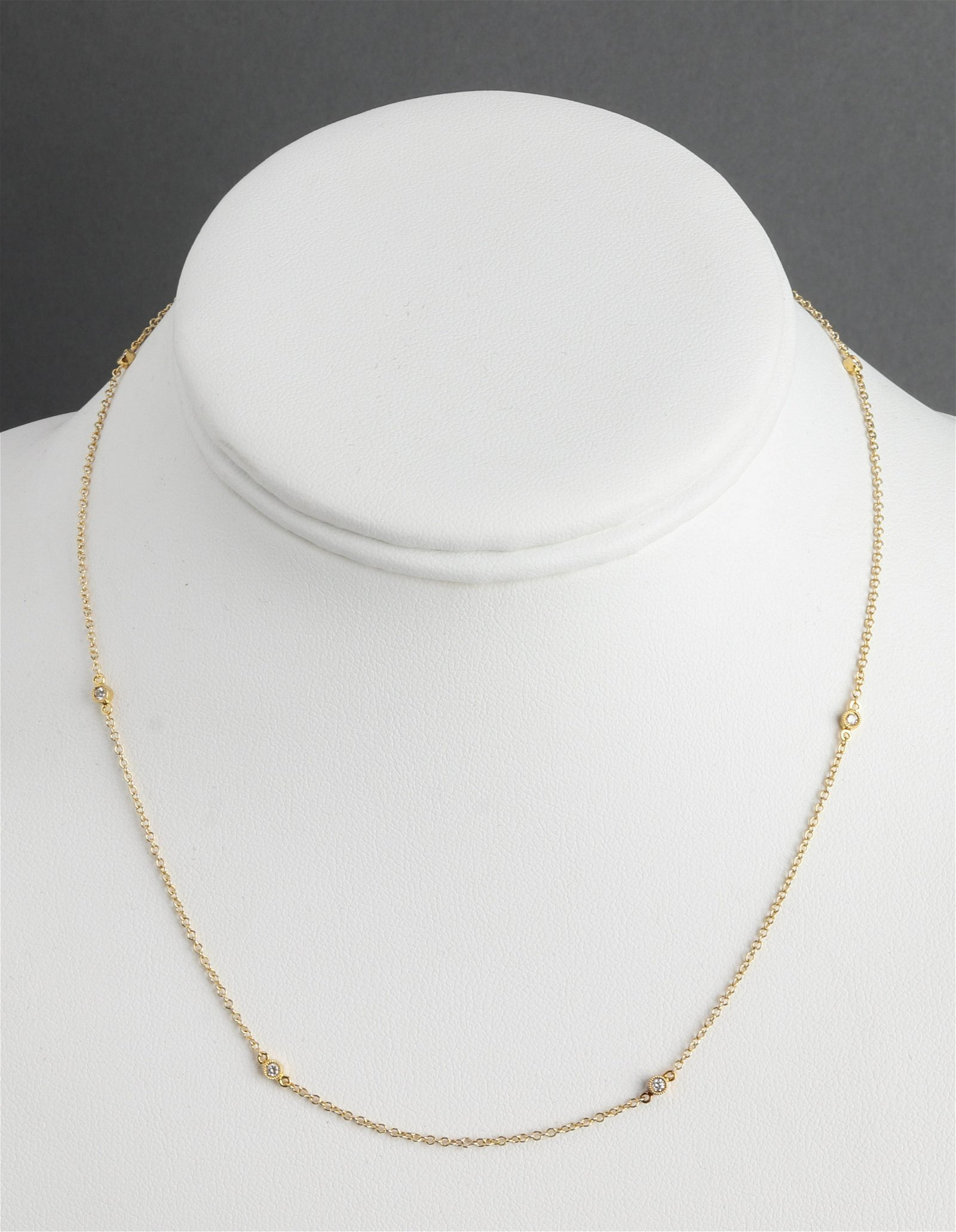 18K Yellow Gold Diamond-By-The-Yard Chain Necklace
