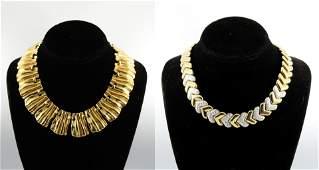 Vintage Mid-Century Modern Gold-Tone Necklaces