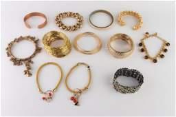 Misc. Mixed Material & Metal Bracelets, Incl. Bone