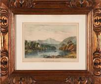 Currier  Ives The Frontier Lake Vintage Print