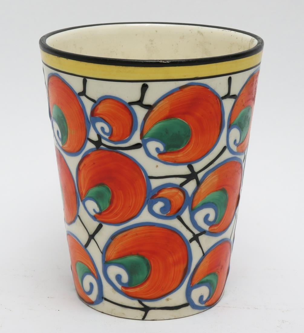 Modern Czech Hand-Painted Ceramic Vase