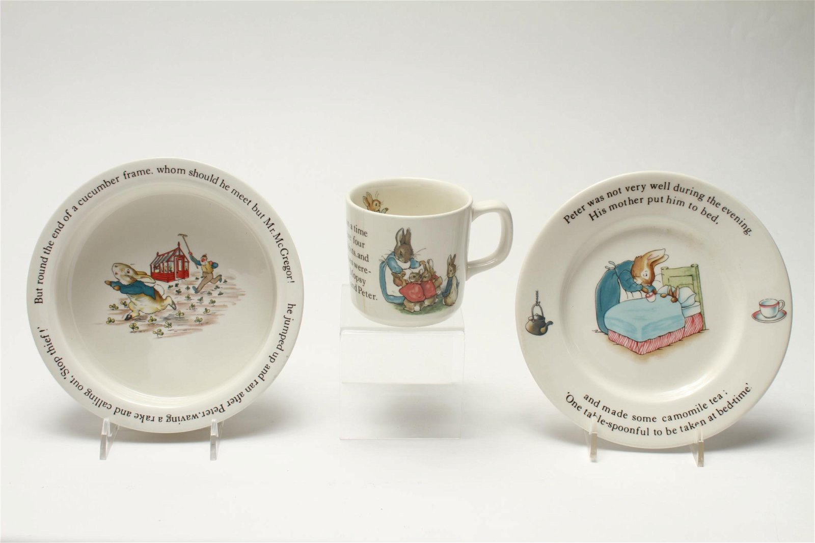 Wedgwood Porcelain Peter Rabbit Nursery Set 3 Pc