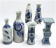Group Of Chinese Blue And White Porcelain Vases, 6