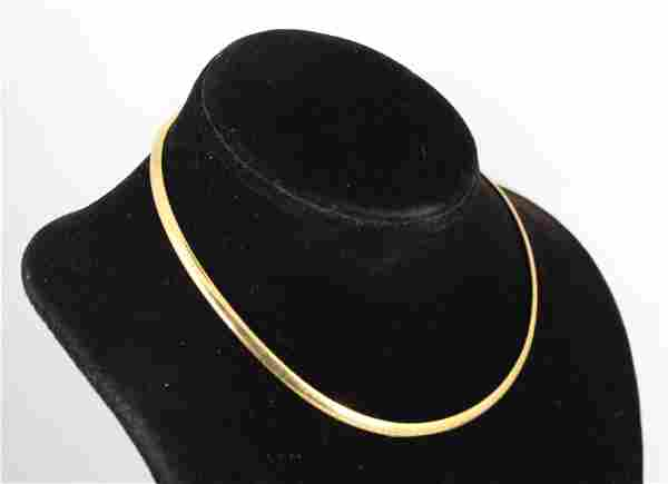 Vintage Aurafin Designer 14K Yellow Gold Choker