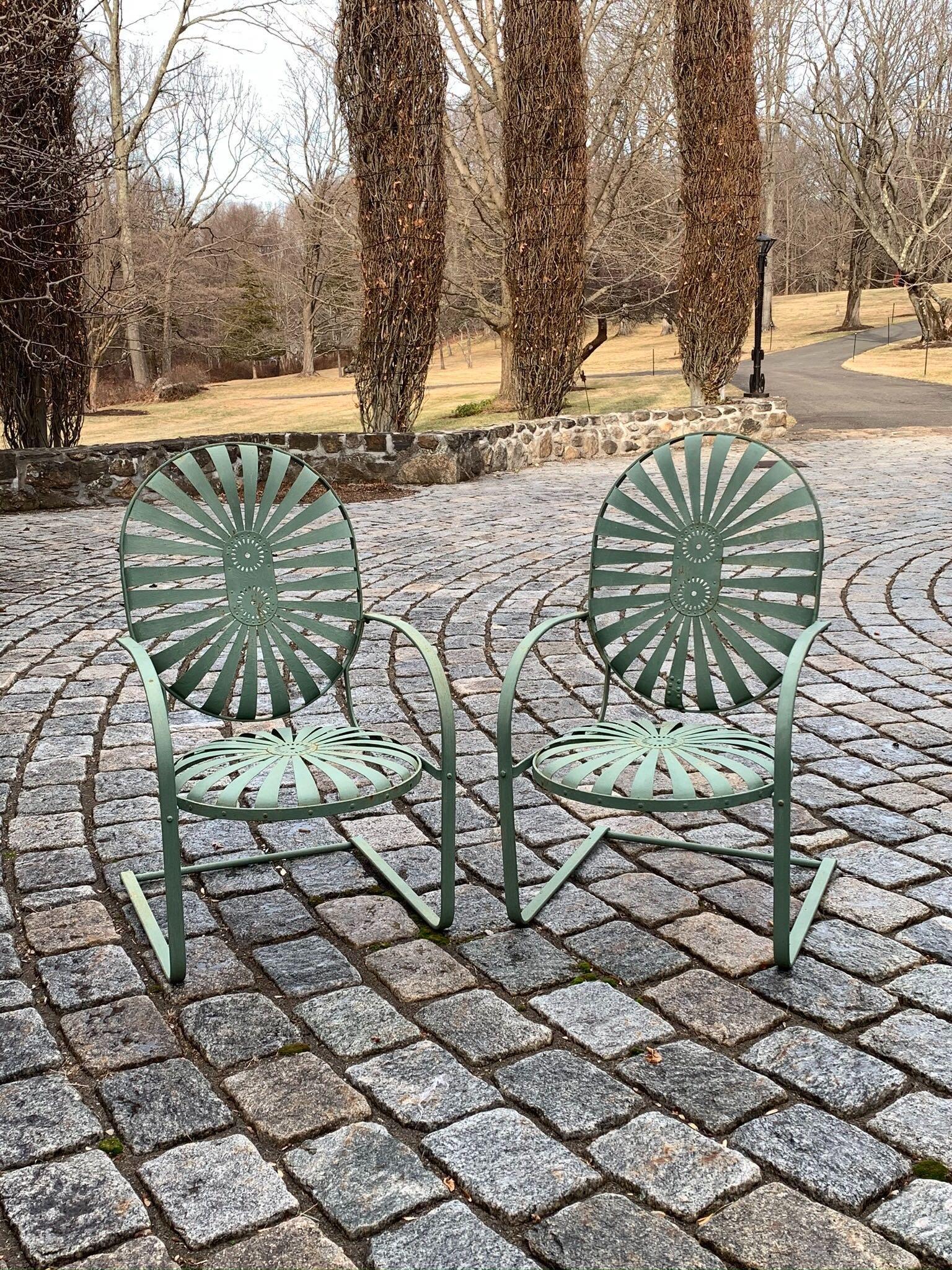 Francois Carre Attrib Garden Patio Outdoor Chairs