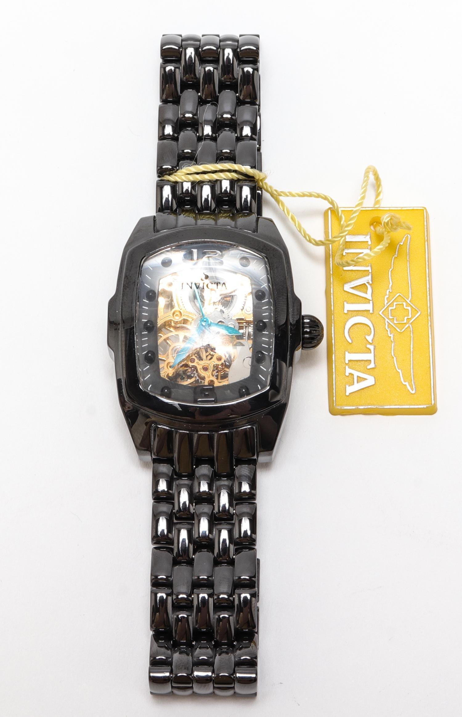 "Invicta ""Lupah"" #1126 Black Ceramic Watch"