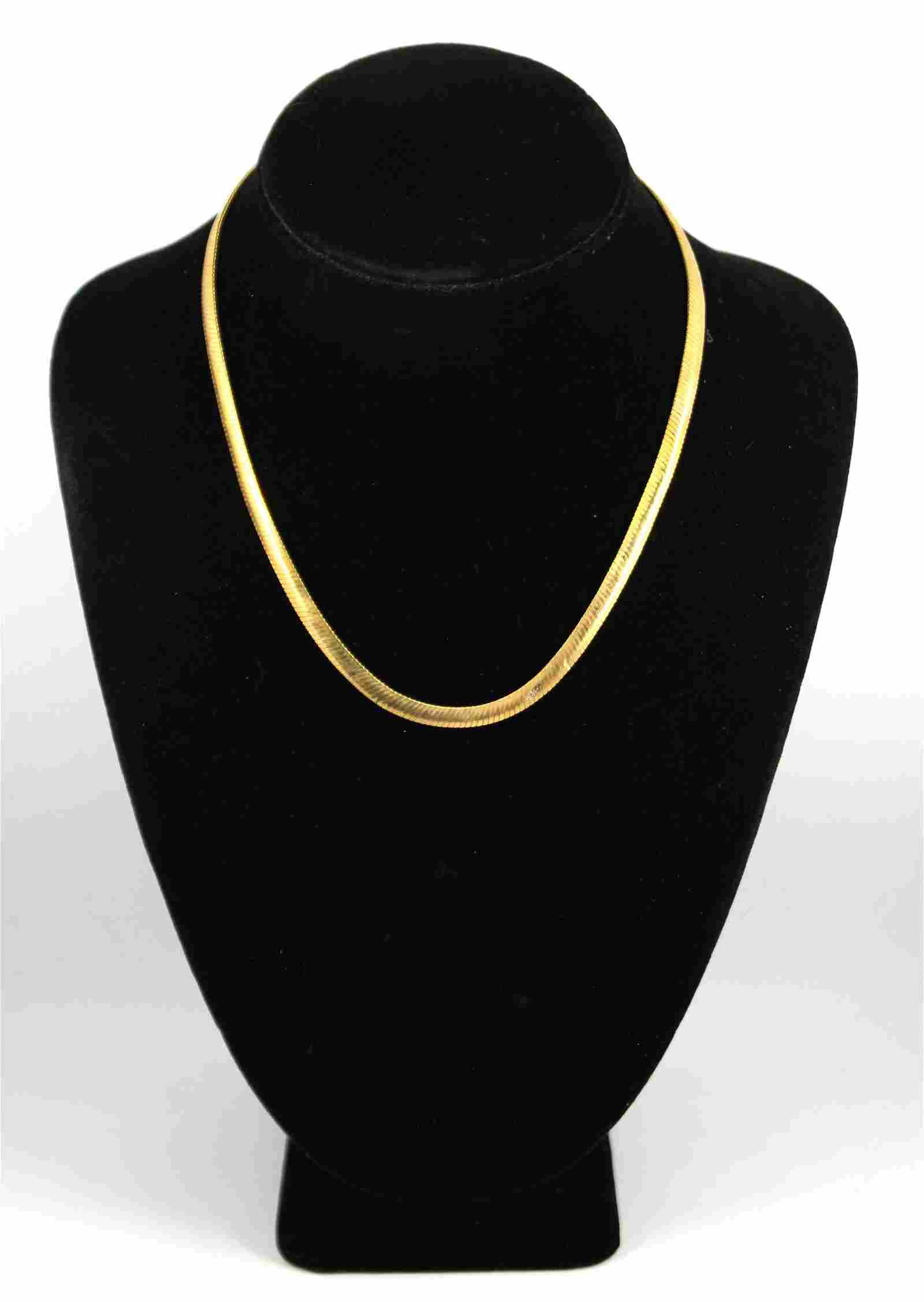 Italian 14K Yellow Gold Snake Link Necklace