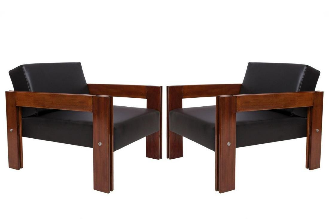 Percival Lafer Brazilian Convertible Armchairs, Pr
