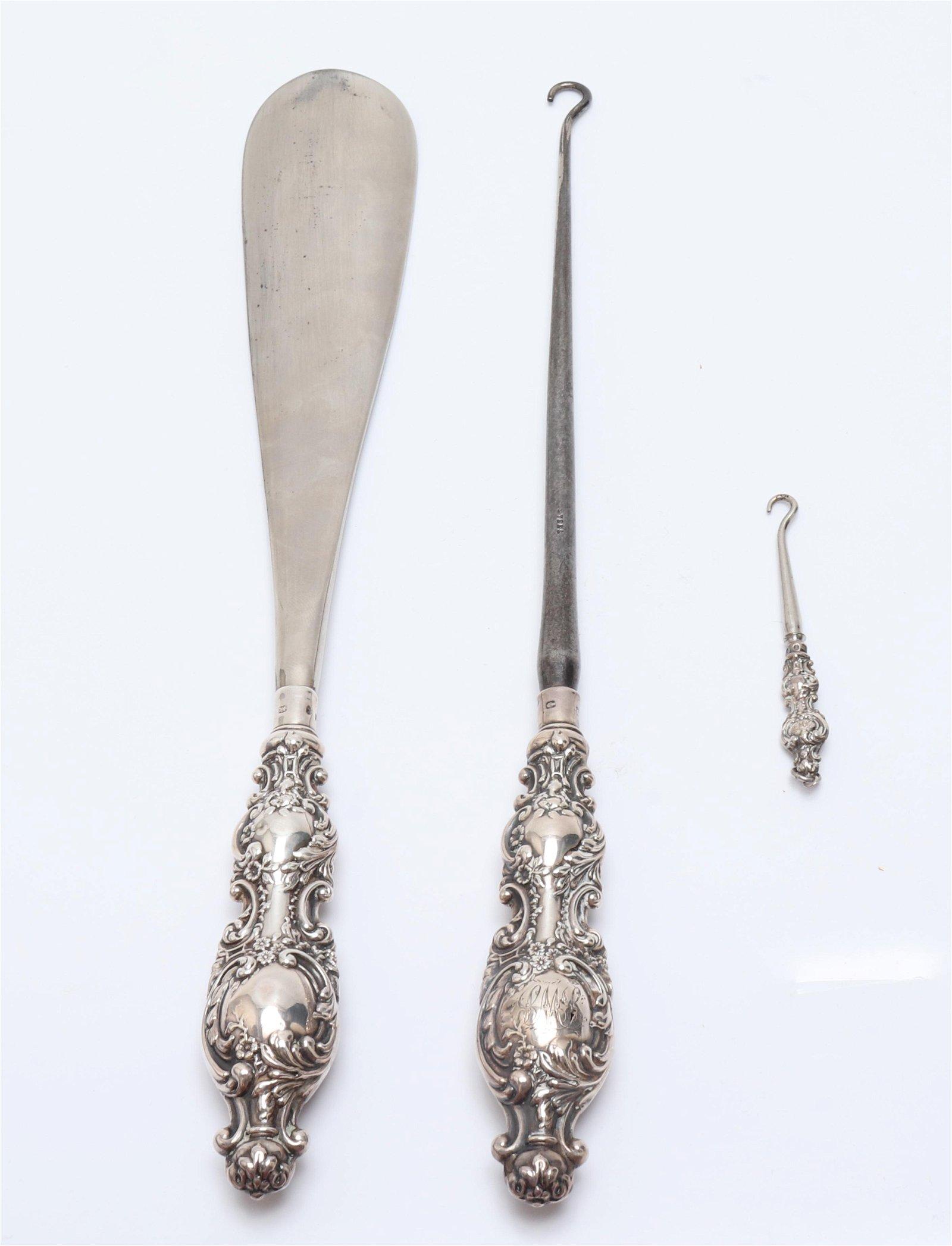 Victorian Silver Cased Vanity / Dresser Set, 3