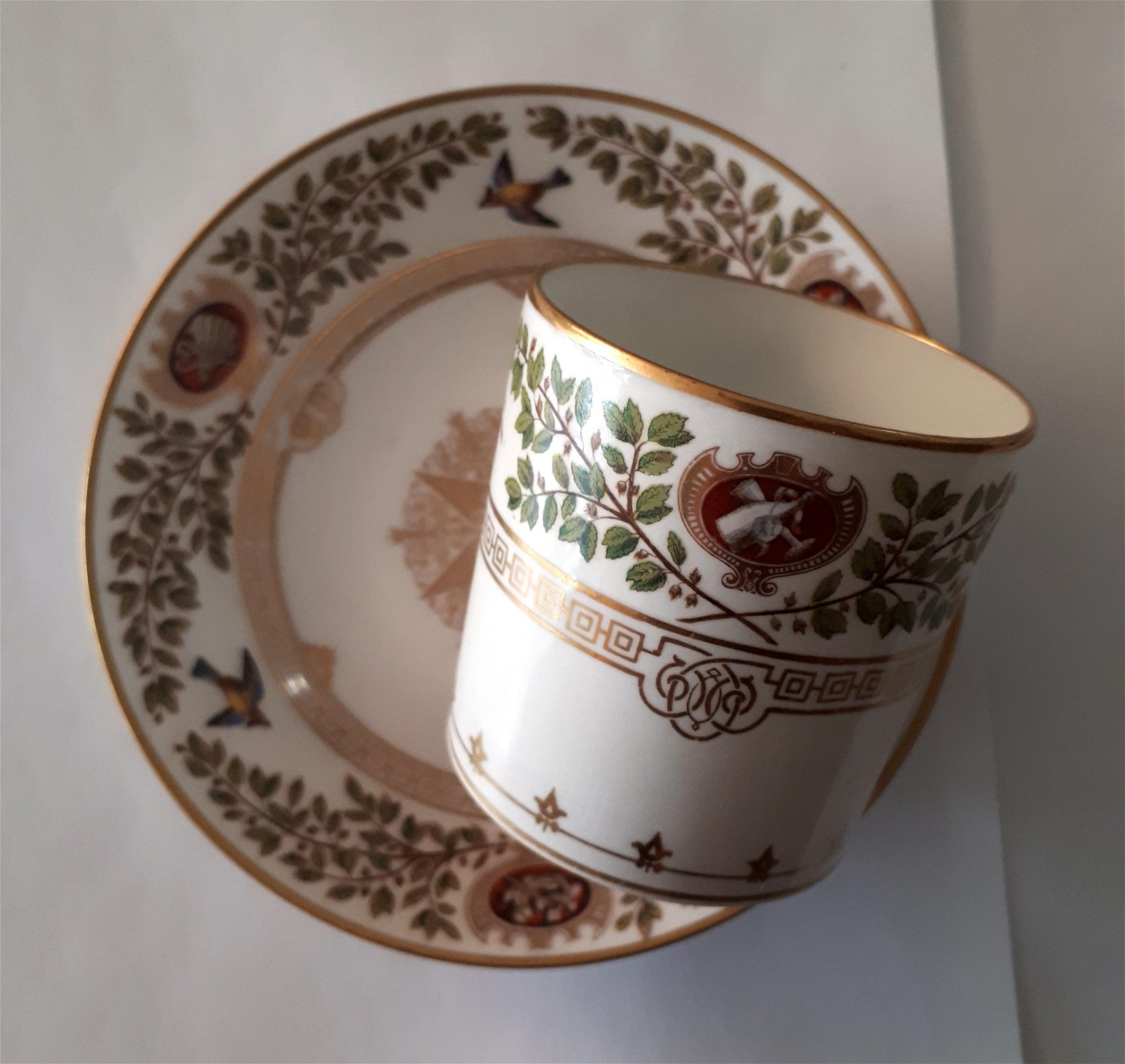 19th Century Sevres Porcelain Cup And Saucer