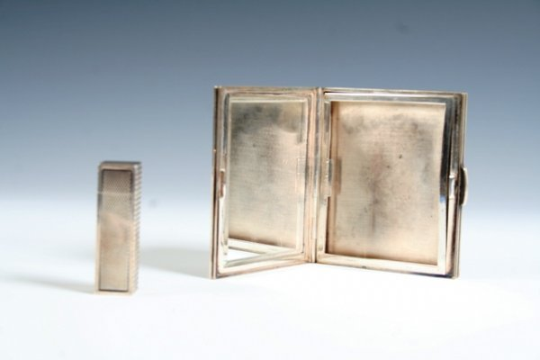 4: Hermes Silver Compact & Lipstick 1930
