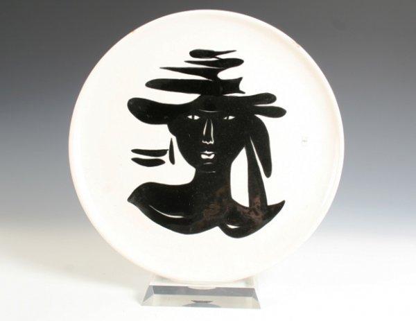 8: Jean Lurcat Ceramic Charger Signed Circa 1940