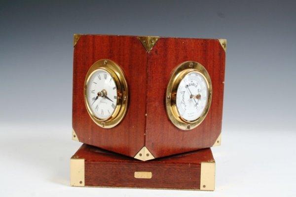 12: Gucci Rotating Wood & Brass Desk Clock c 1070