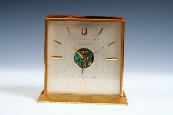 26: Brass Accutron Desk Clock Circa 1960