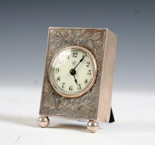 27: International Watch Co. Sterling Travel Clock