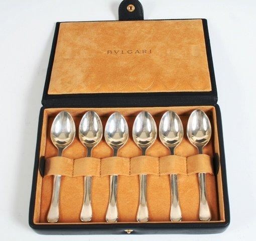 28: Bulgari 925 Sterling Silver Demitasse Spoons