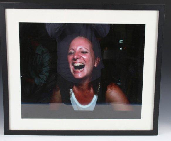 142: Nan Goldin Signed Self Portrait Laughing 1999
