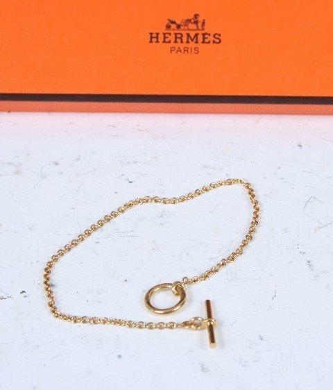 179: Hermes 18K Bracelet With Original Box