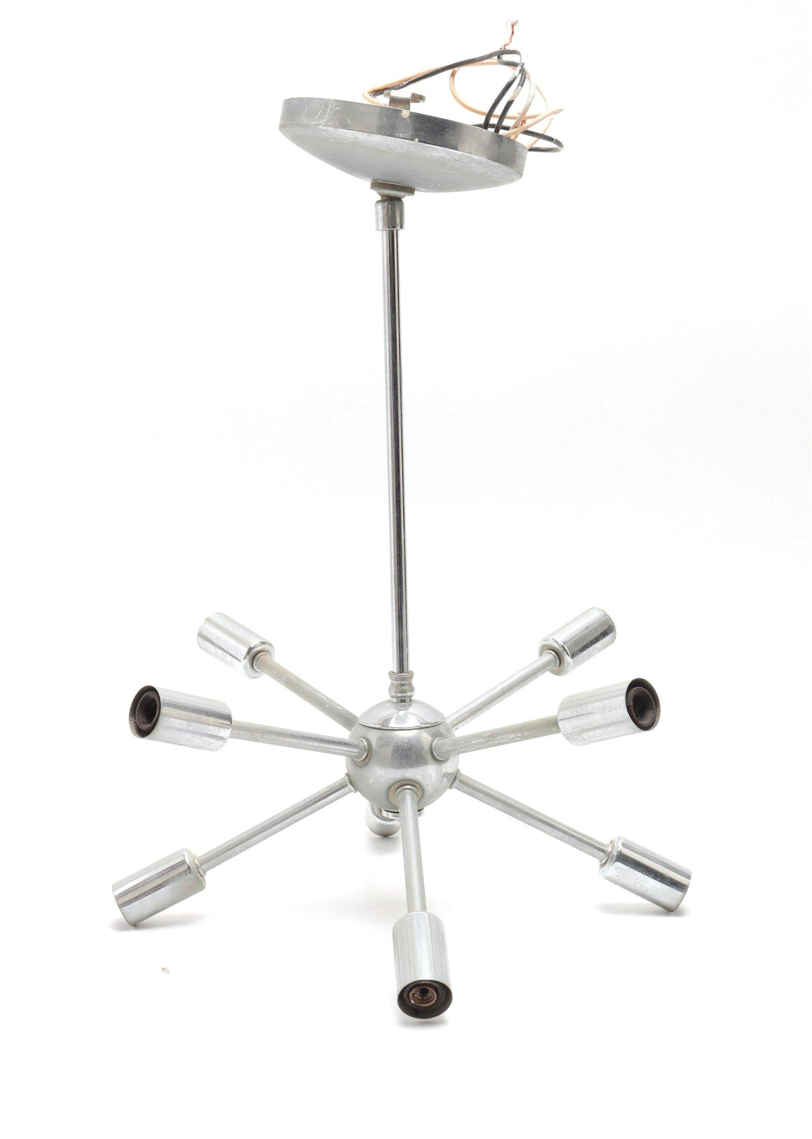 Mid-Century Modern Chrome Sputnik Chandelier