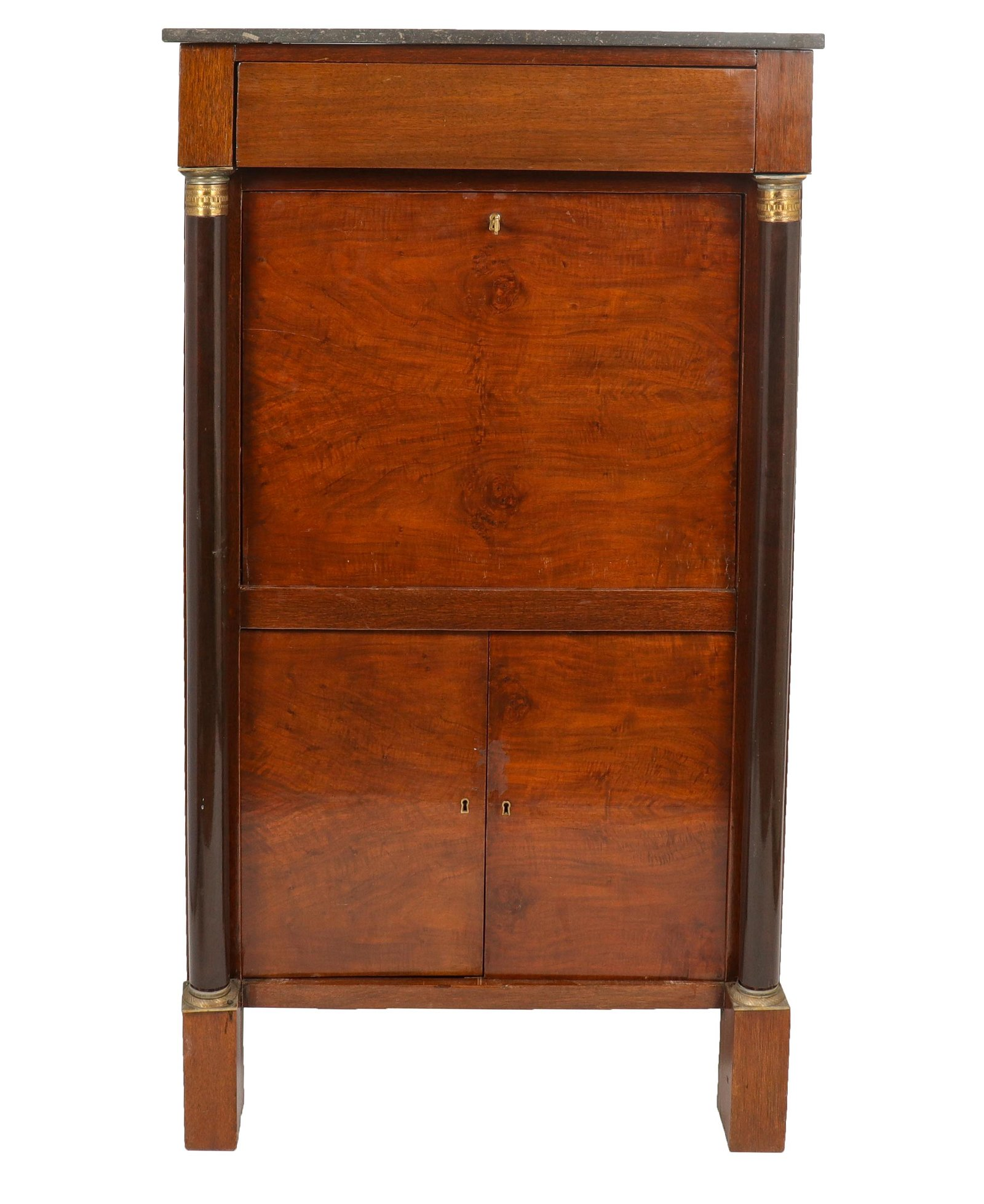 French Empire Style Drop Front Secretary Cabinet