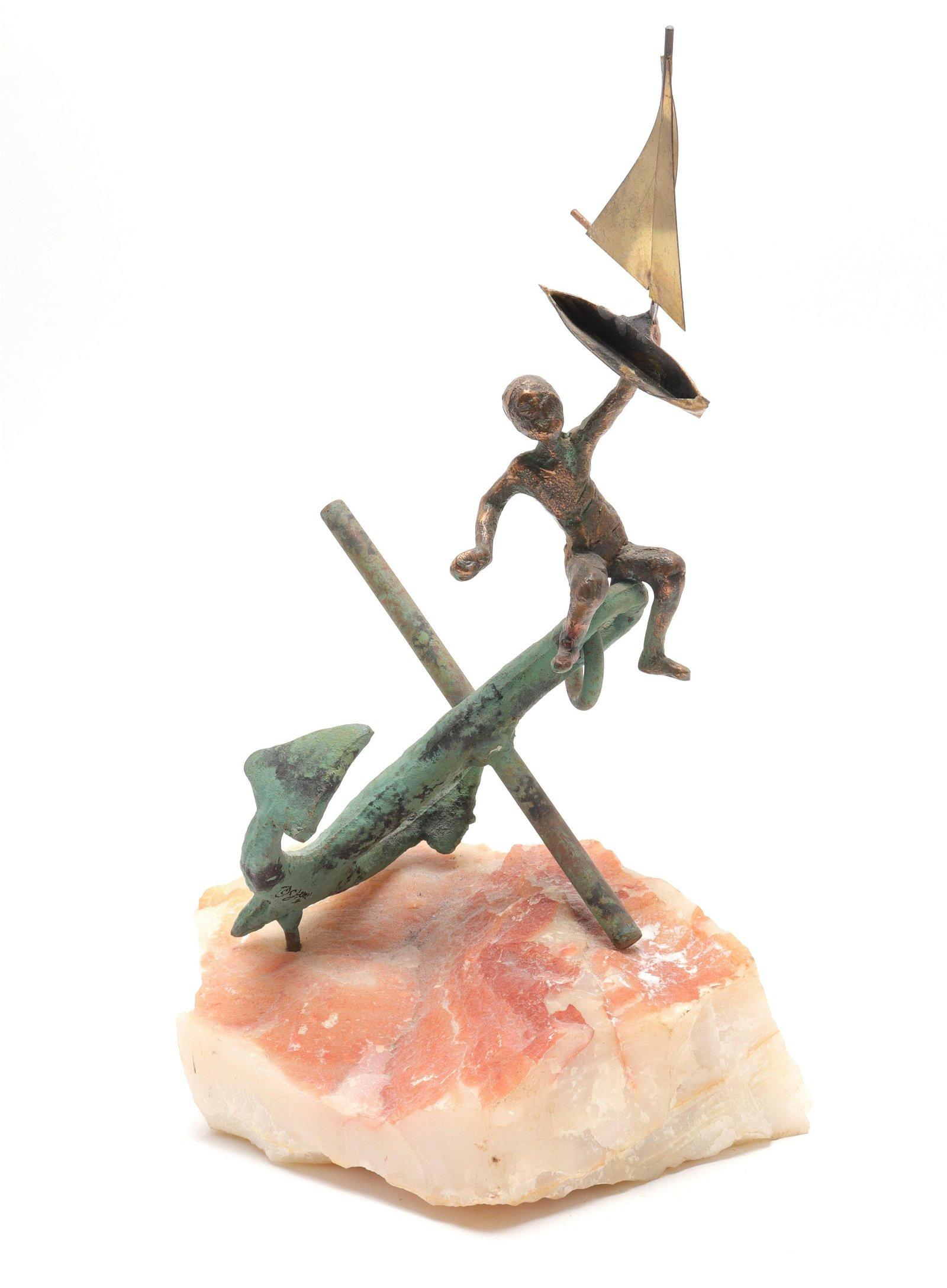 """""""Anchors Aweigh"""" Modern Metal Sculpture"""