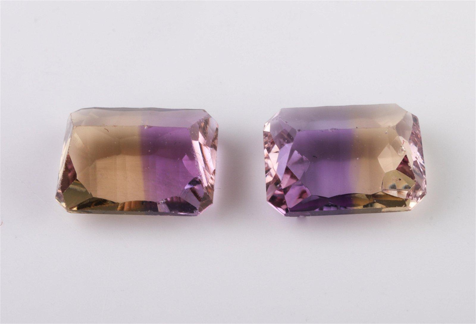 4.5 cttw. Loose Emerald Fancy-Cut Ametrine Stones