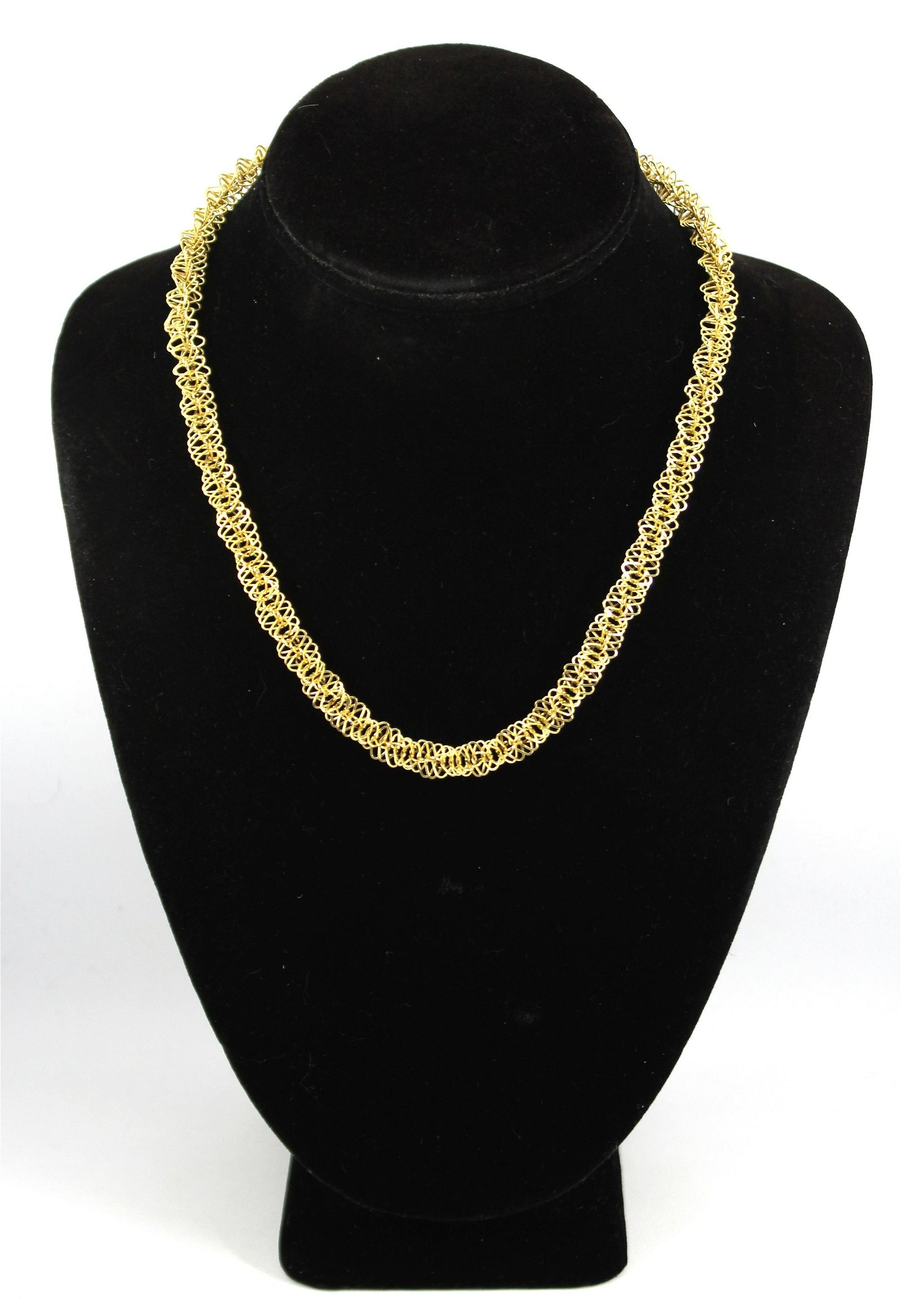 Modern 14K Yellow Gold Fancy Link Necklace