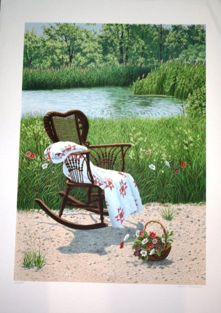 1002: Two Helen Rundell Lithographs - Outlaw, Blanket