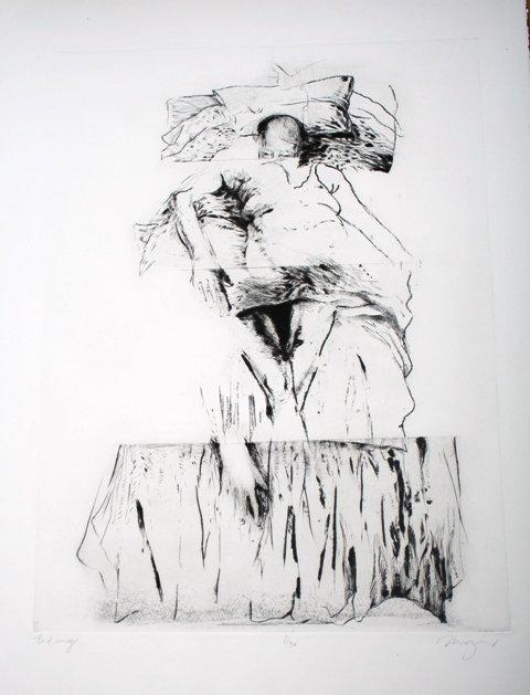 1009: Original Etching by Michael Mazur