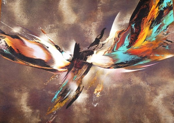 """1011: Leonardo Nierman Print """"Bird"""" 9/200"""