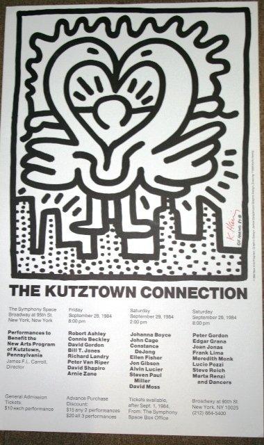 1033: Original Keith Haring Kutztown Signed Poster