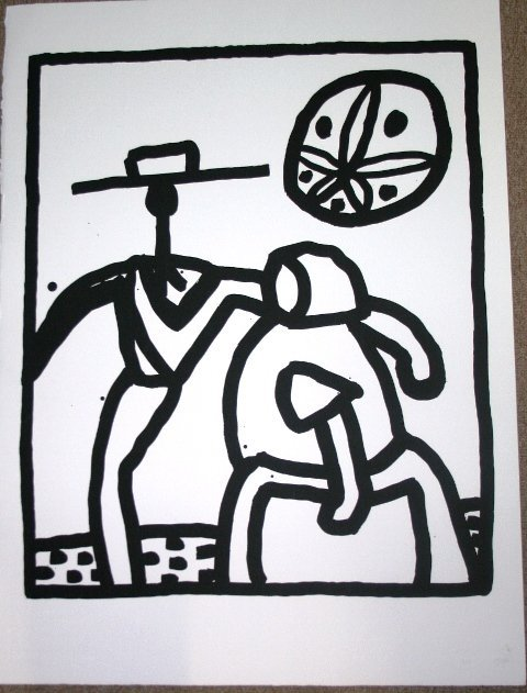 1034: Original Signed Keith Haring Silkscreen 1989