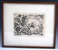 1075 Paul Cadmus Original Signed Etching Polo Spill