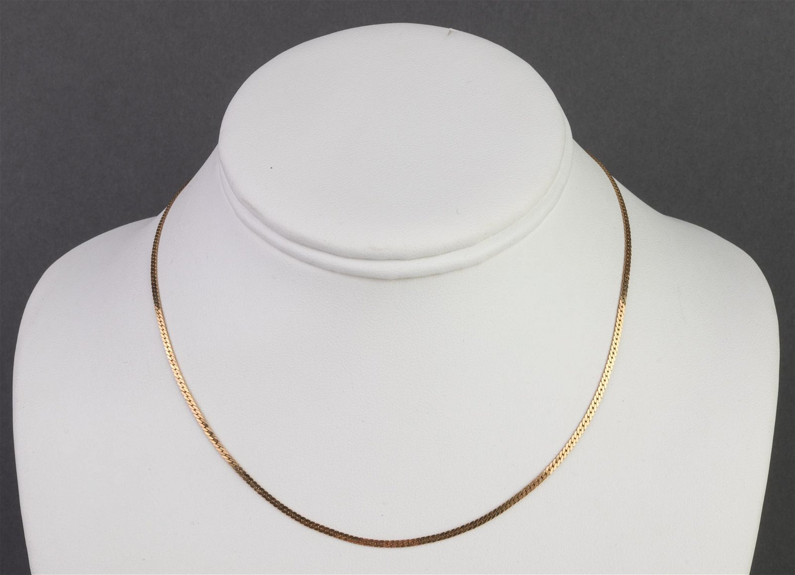 Modern MCM Designer 14K Yellow Gold Snake Necklace