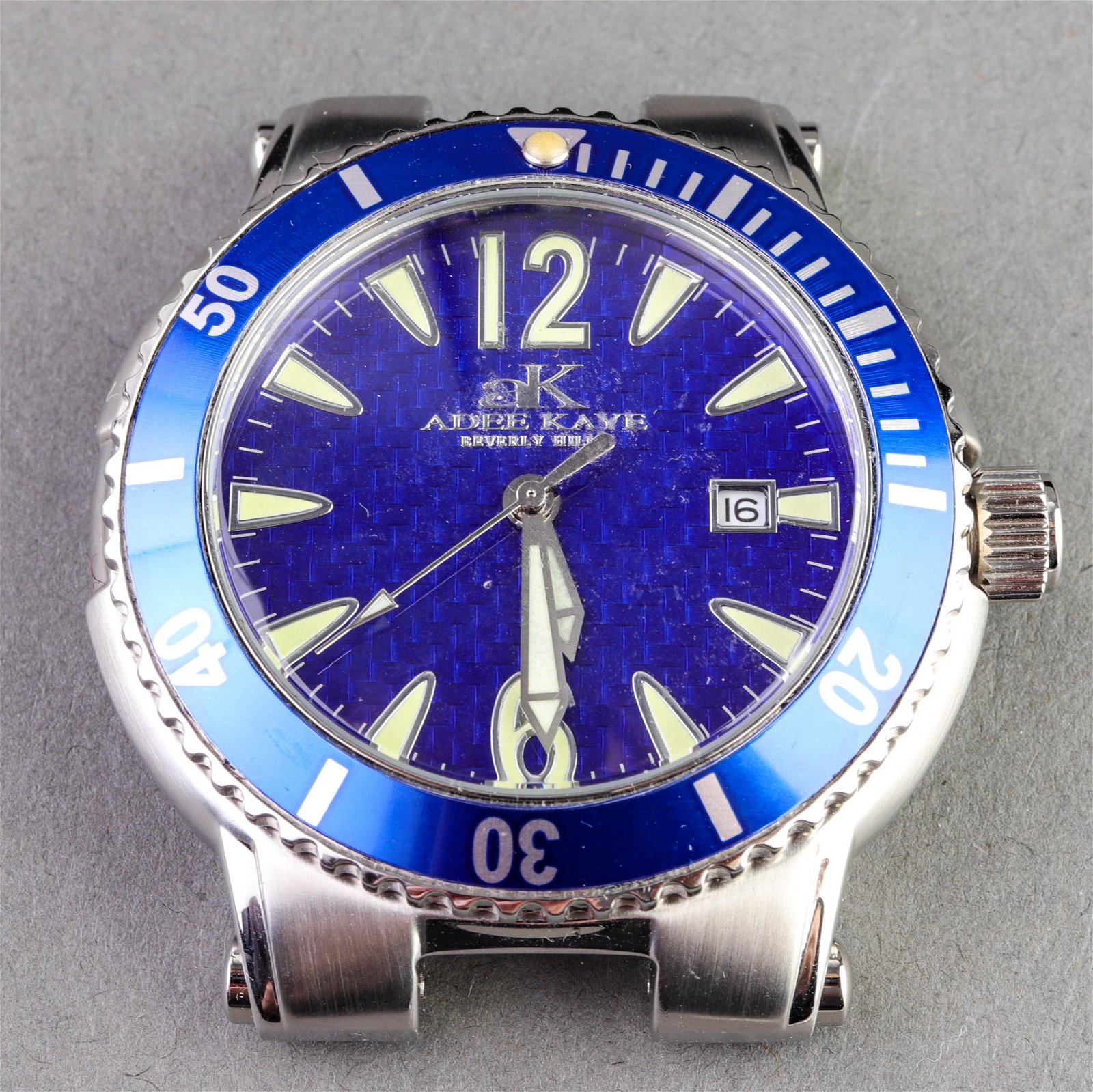 """Adee Kaye """"Sport Collection"""" Stainless Steel Watch"""