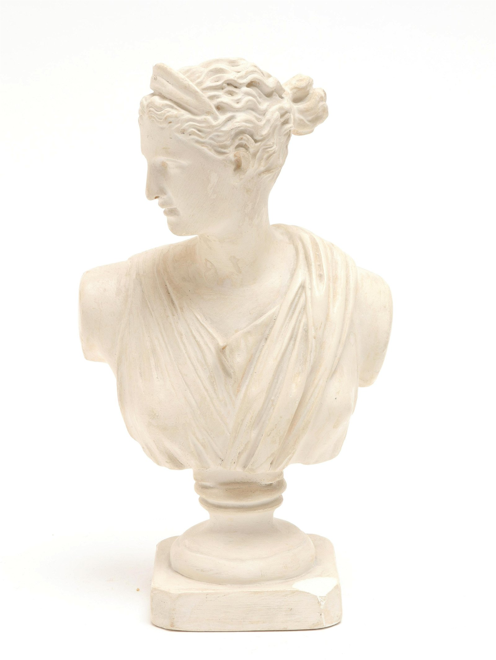 Classical Figure Bust Composition Sculpture